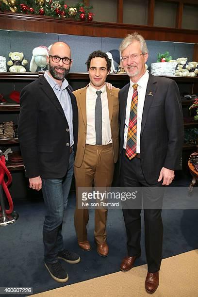 North America President of Brooks Brothers Andrea Dorigo designer Zac Posen and Brooks Brothers CEO Claudio Del Vecchio attend as BROOKS BROTHERS...