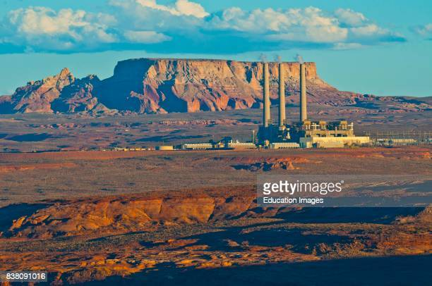 North America USA Arizona Page Lake Powell Navajo Generating Station from Wahweap Overlook