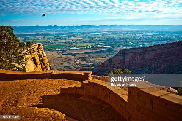 North America USA Colorado Fruita Grand Junction Vistas along Rim Rock Drive Colorado National Monument Book Cliffs View