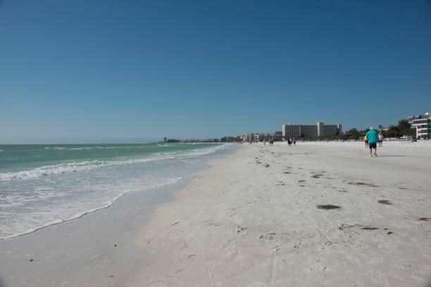 North America Usa Florida Sarasota Crescent Beach Siesta Key