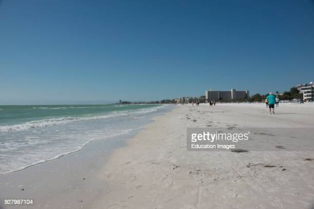 North America USA Florida Sarasota Crescent Beach Siesta Key Beach scene