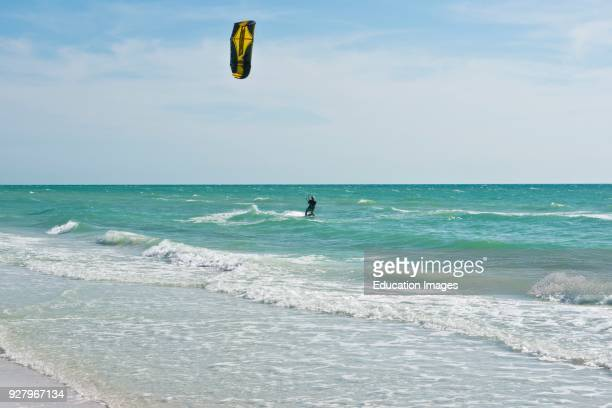 North America, USA, Florida, Sarasota, Crescent Beach, Siesta Key, Beach scene Wind Surfing.