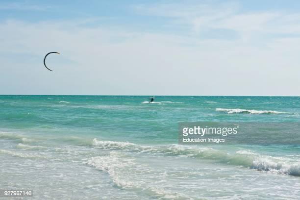 North America, USA, Florida, Sarasota, Crescent Beach, Siesta Key, Beach scene Wind Surfing.