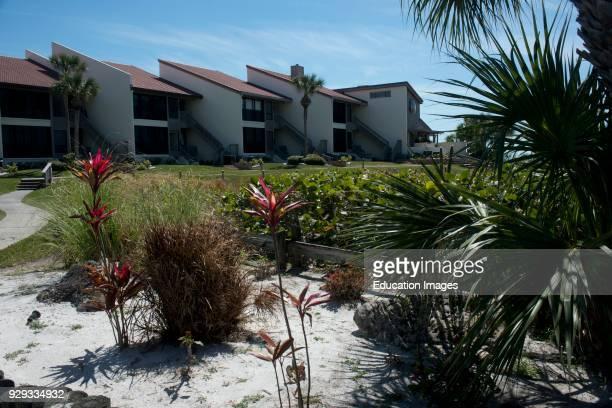 North America, USA, Florida, Sarasota, Crescent Beach, Siesta Key, Siesta Dunes Beach Condominium.