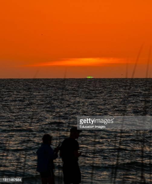 North America, USA, Florida, Sarasota, Crescent Beach, Siesta Key, Sunset Green Flash.