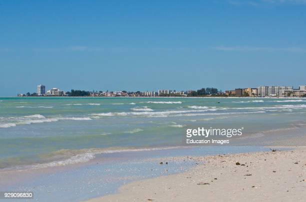North America, USA, Florida, Sarasota, Crescent Beach Siesta Key, Panoramic View.