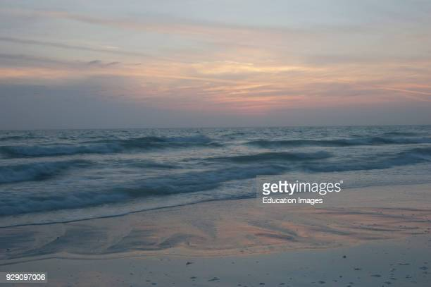 North America, USA, Florida, Sarasota, Siesta Key, Pastel Sunset.