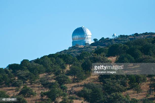 North America USA Fort Davis Texas McDonald Observatory Mount Fowlkes HobbyEberly Telescope Fifth Largest in World Exterior view of Observatory