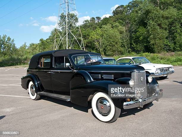 North America USA Minnesota Lilydale Pool and Yacht Club Antique Car Show 1938 Cadillac Touring Sedan