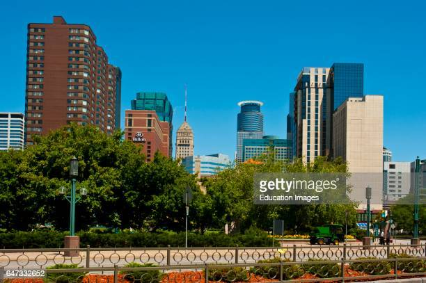 North America USA Minnesota Minneapolis Skyline from Convention Center