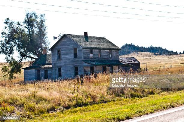 North America USA Nebraska Crawford abandoned Ranch House