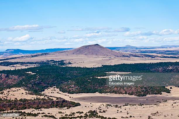 North America USA New Mexico Capulin Capulin Volcano a Cinder Cone View from Summit Overlook