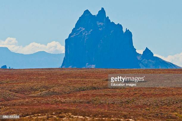North America USA New Mexico Shiprock Peak important in Navajo Mythology Tradition and Religion