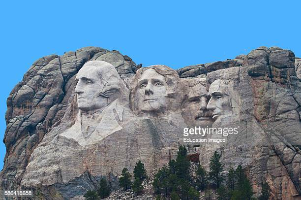 North America USA South Dakota Keystone Black Hills Mount Rushmore National Memorial