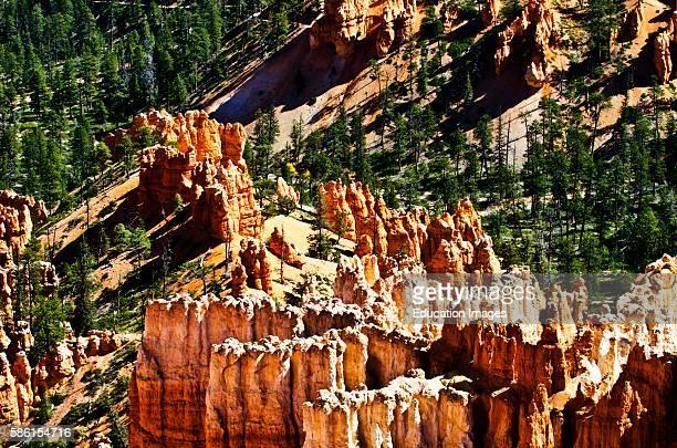 North America USA Utah Bryce Bryce Canyon National Park Inspiration Point