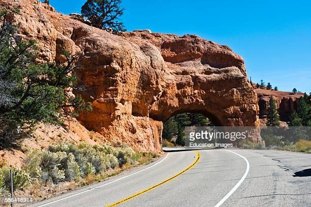 North America USA Utah Bryce Red Canyon Tunnels