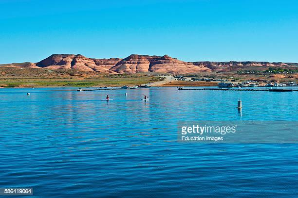 North America USA Utah Ferry Crossing Lake Powell Halls Crossing to Bullfrog