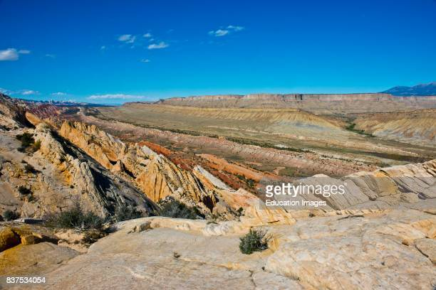 North America USA Utah Fruita Capitol Reef National Park Water pocket Fold from Strike Valley Overlook Looking North