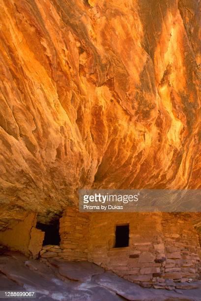 North America, Utah, Four Corners, Cedar Mesa, Mule Canyon, Anasazi ruins.