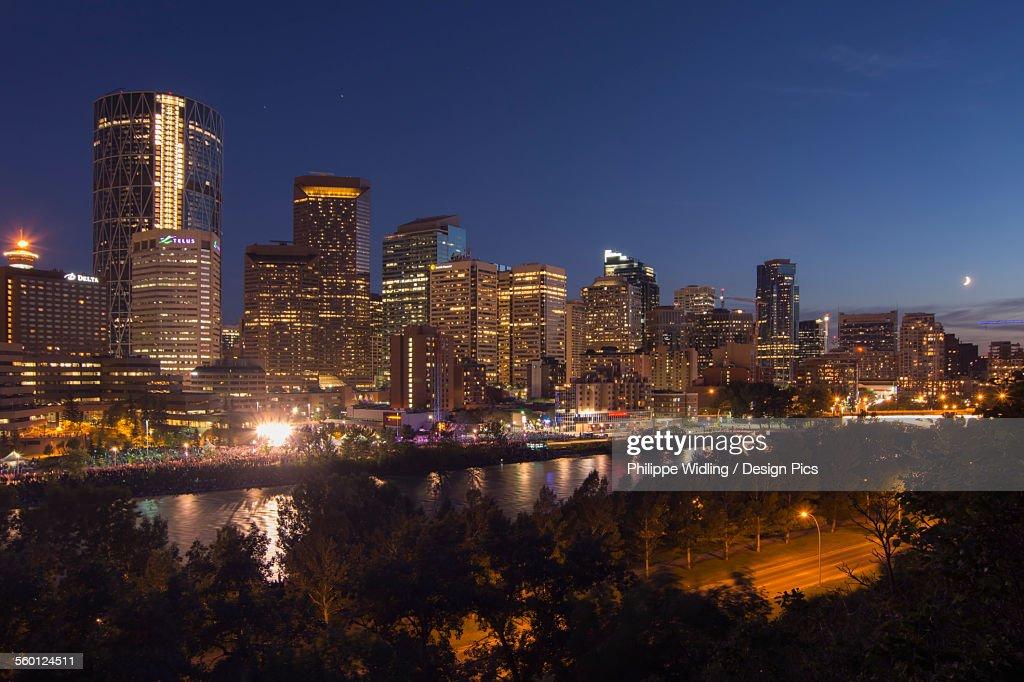 Nighttime City Skyline