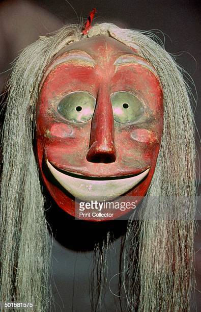 North American Indian artifact belonging to an Iroquois society known as the 'FalseFace Band' in which each member had to have seen such a face in a...