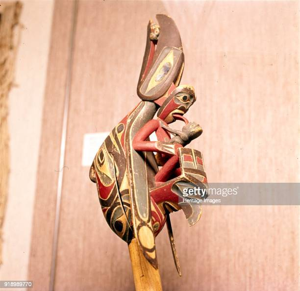 North American Indian Shaman's Rattle Thunderbird The thunderbird is a legendary creature in certain North American indigenous peoples' history and...