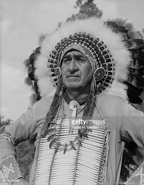 north american sioux indian in traditional clothing - number of people stock pictures, royalty-free photos & images