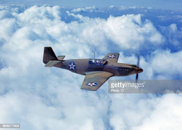 North American's P51 Mustang Fighter is in service with Britain's Royal Air Force NAA Inc Inglewood California 1942
