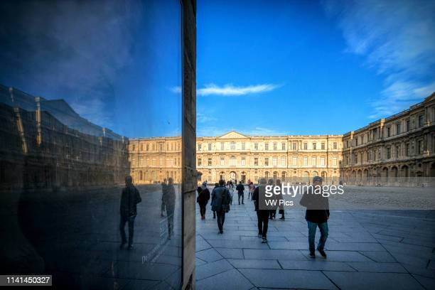 North and East sides of the Cour Carree, Louvre Museum, Paris, France.