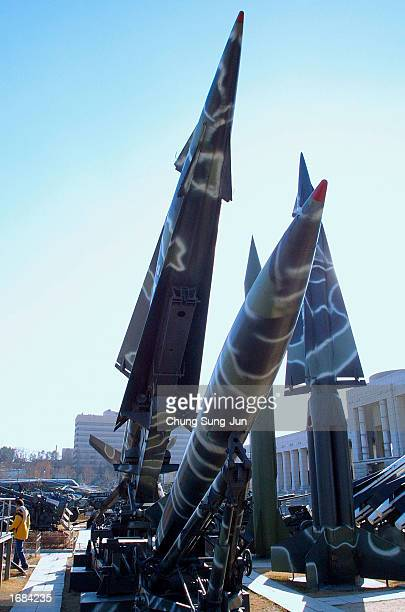 North and South Korea's missiles are displayed December 12 2002 at the Korea War Memorial Museum in Seoul South Korea North Korea said December 12 it...