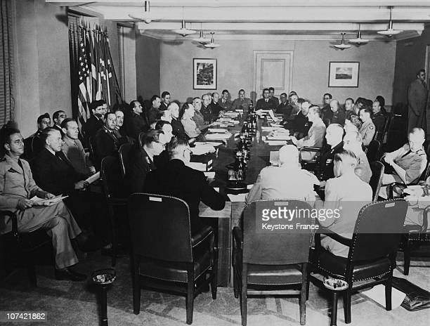 North Atlantic Treaty Committee In The Pentagon Building In Washington D C On June 10Th 1949