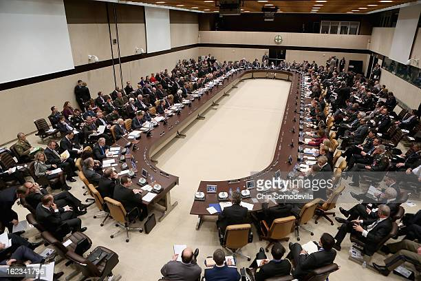 North Atlantic Treaty Organization Defense Ministers meet with nonNATO International Security Assistance Force contributing nations at NATO...