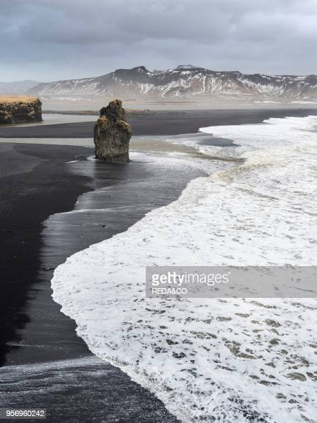 North Atllantic coast near Vik y Myrdal during a winter storm with heavy gales Europe northern Europe Iceland February