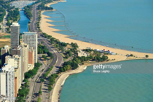 north avenue beach view - north avenue beach stock pictures, royalty-free photos & images
