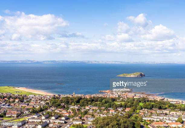 north berwick and the firth of forth - scotland stock pictures, royalty-free photos & images
