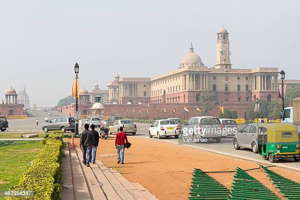 north block offices, new delhi, india - rashtrapati bhavan presidential palace stock pictures, royalty-free photos & images