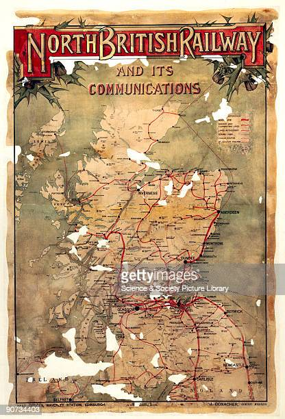 North British Railway and its Connections NBR poster c1930s Poster showing a map of Scotland and the north of England produced for the North British...