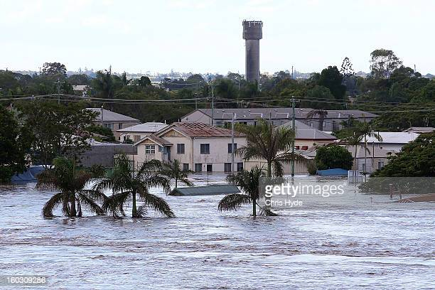 North Bundaberg underwater as parts of southern Queensland experiences record flooding in the wake of Tropical Cyclone Oswald on January 29 2013 in...