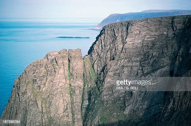 North Cape cliffs Mageroya Island Norway