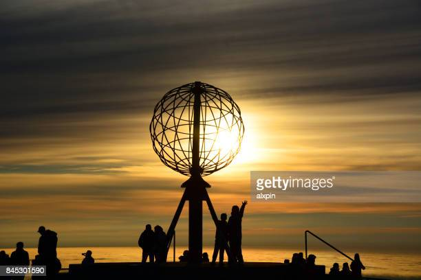 north cape, norway - 12 o'clock stock photos and pictures
