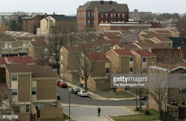 North Capitol Street NW The low income housing project of Sursum Corda seen from the roof of 1111 North Capitol Street in northeast Washington DC on...