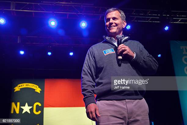 North Carolina Attorney General candidate Josh Stein speaks during Get Out the Vote at The Fillmore Charlotte on November 6 2016 in Charlotte North...