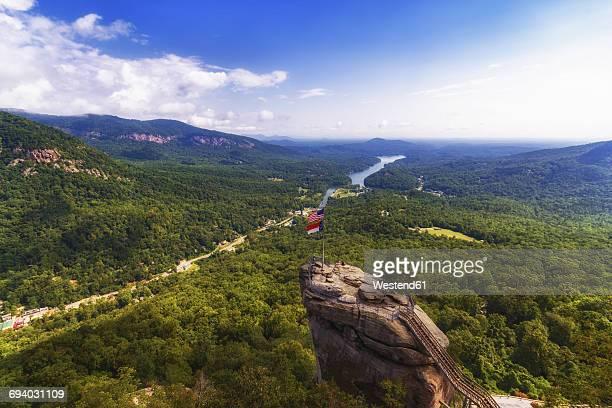 USA, North Carolina, Chimney Rock at Chimney Rock State Park