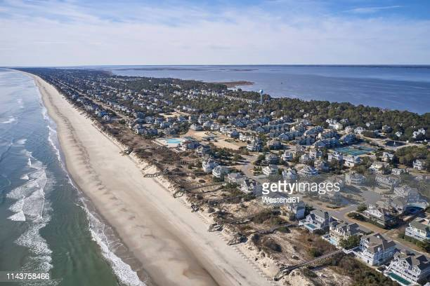 usa, north carolina, corolla, atlantic ocean, sands of the outer banks, pamlico sound - outer banks stock pictures, royalty-free photos & images