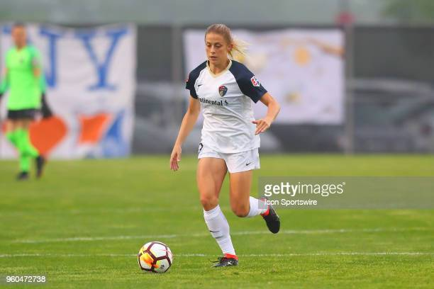North Carolina Courage defender Abby Dahlkemper during the first half of the National Womens Soccer League game between the North Carolina Courage...