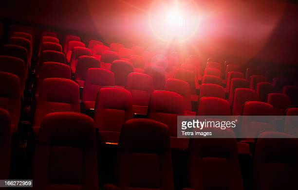 USA, North Carolina, Empty cinema seats