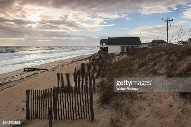 usa, north carolina, exterior - kitty hawk beach stock pictures, royalty-free photos & images