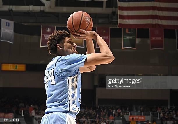 North Carolina forward/guard Justin Jackson shoots during a basketball game between the University of North Carolina Tar Heels and the University of...