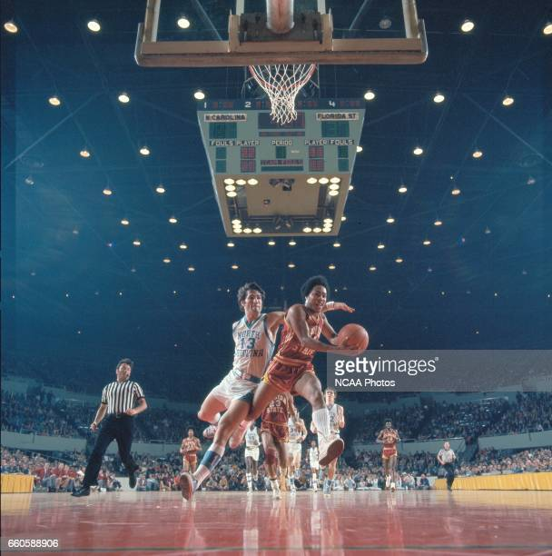North Carolina guard Steve Previs and Florida State guard Otto Petty during the NCAA Photos via Getty Imagess via Getty Images Men's National...