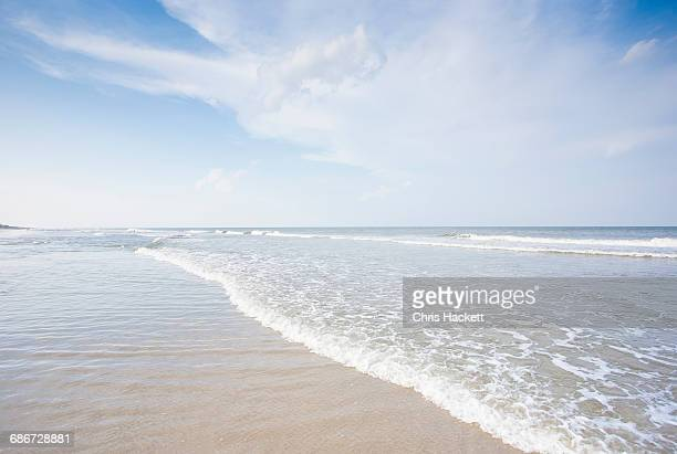 usa, north carolina, outer banks, corolla, beach scene - outer banks stock pictures, royalty-free photos & images